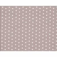 Beschichtete Baumwolle Stoff  Punkte taupe weiß  Zuschnitt 50 x 70 cm Bild 1