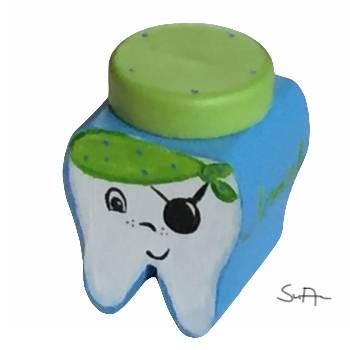 Milchzahndose Zahndose für Milchzähne Piratenzahn Pirat Bild 1