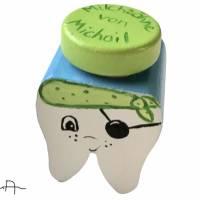 Milchzahndose Zahndose für Milchzähne Piratenzahn Pirat Bild 2
