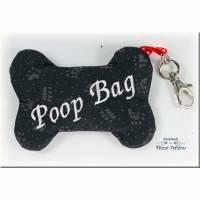 POOP BAG - Kotbeuteltäschchen, Tasche für Kotbeutel oder Leckerli,  Kotbeutelspender, Kotbeutelhalter, Kotbeuteltasche, Schlüsselanhänger Bild 1
