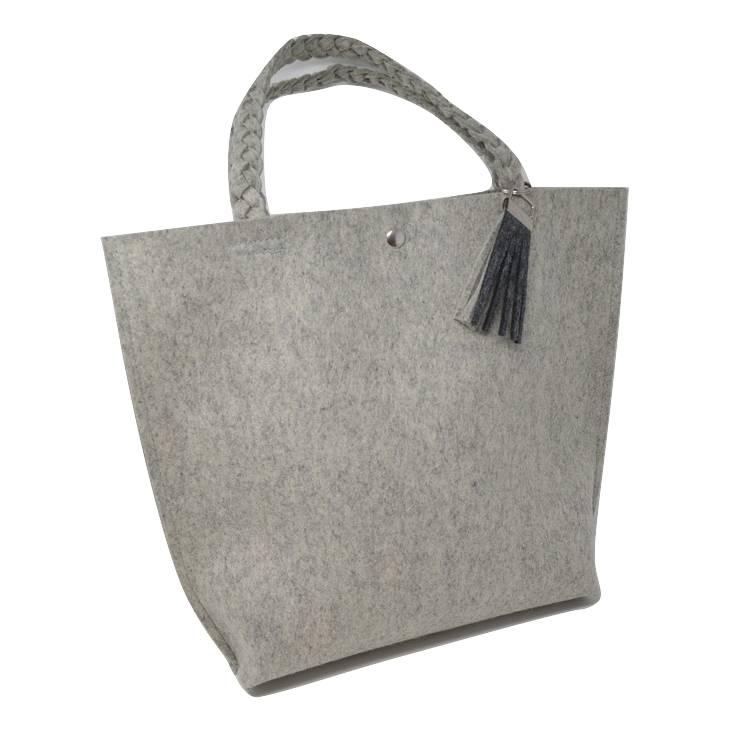 Filztasche / Shopper mit geflochtenen Trägern Bild 1