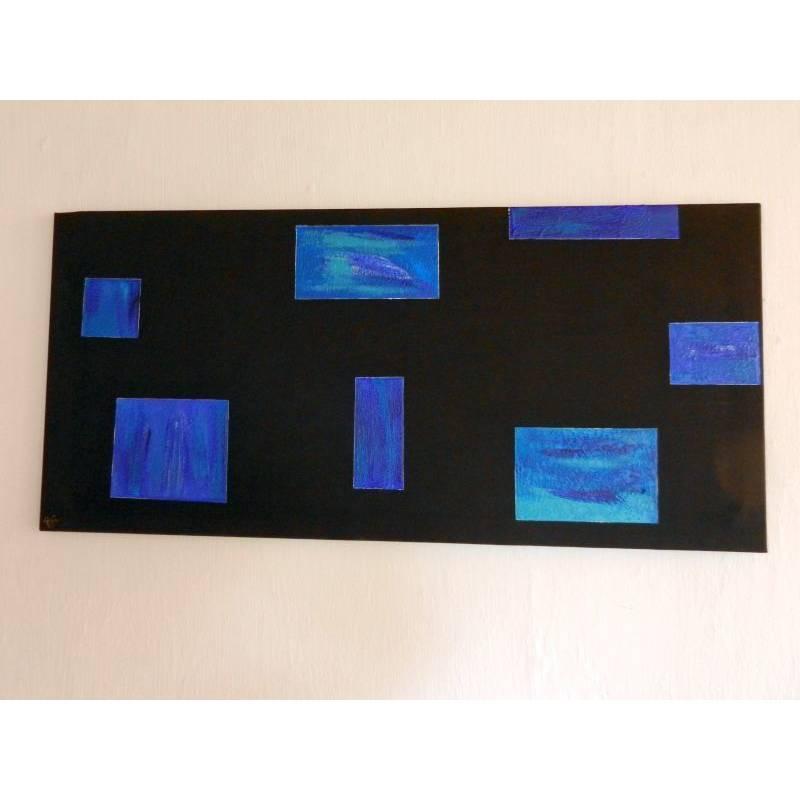 Blau auf Schwarz Bild 1