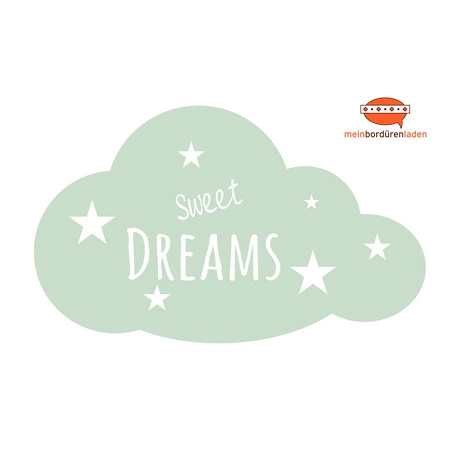 Wandtattoo: Wolke - Sweet Dreams | Wandaufkleber & Türaufkleber  Bild 1