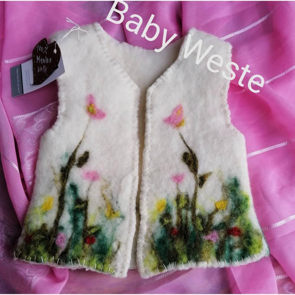 Baby-Filz Weste, Frühling, ohne Arm, 6-12 Monate Bild 1