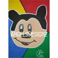 Pop Art Acrylbild Moderne Kunst Malerei auf Leinwand Bild Acryl Handsigniert Bild 1