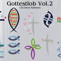 Stickdatei Gotteslob Symbole Vol.2  Rahmen 13x18cm