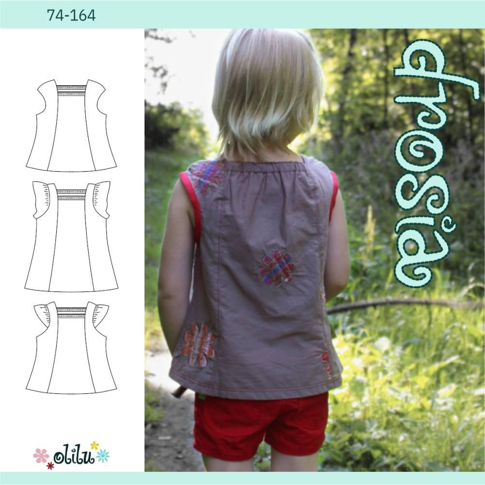 Sommertop DROSIA 2.0 - Hängerchen - 74-164 - olilu Schnittmuster - Nähanleitung Bild 1
