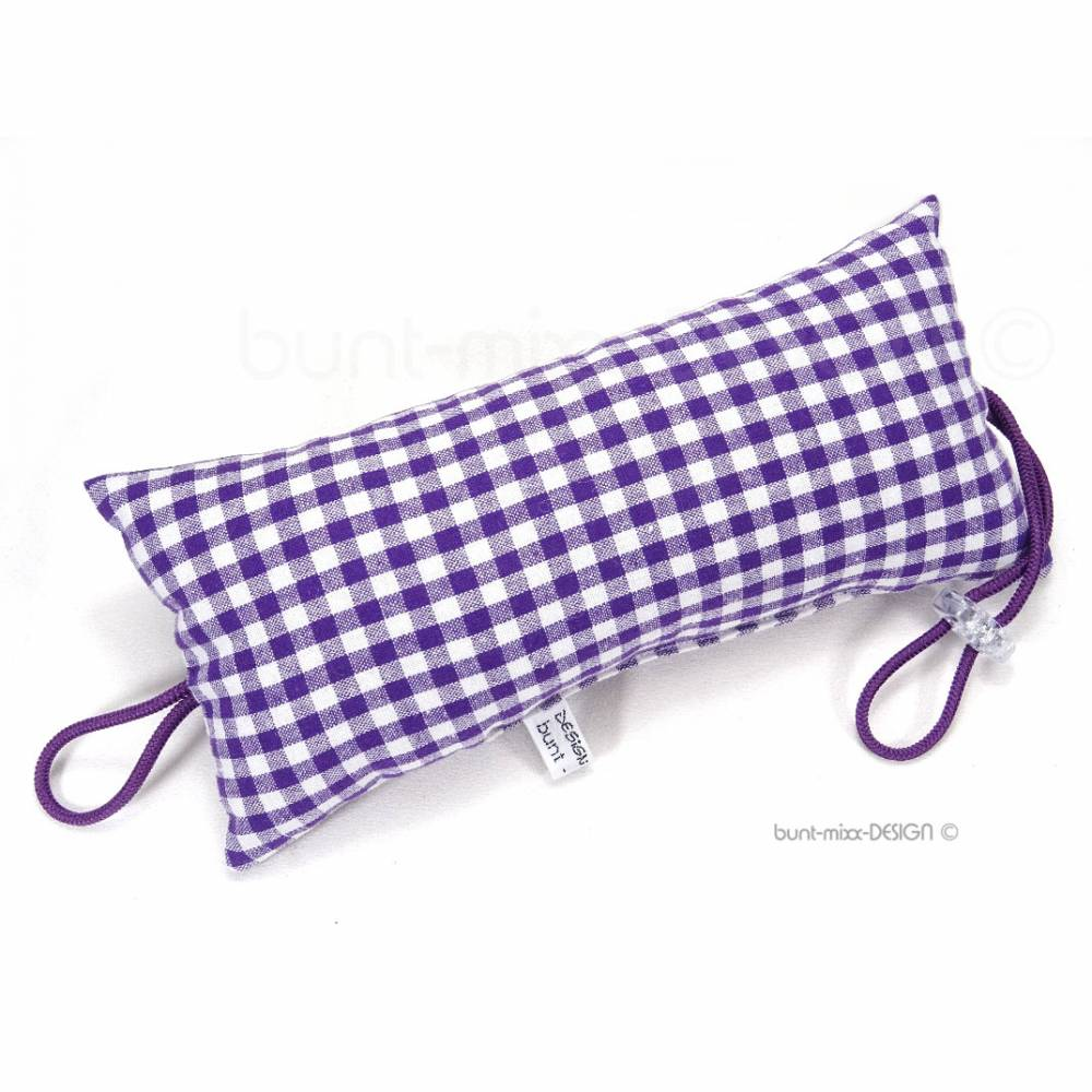 Türstopper purpur-violett Vichykaro Bild 1