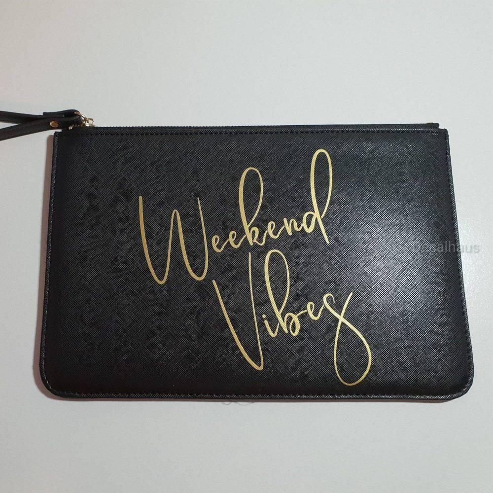 Weekend Vibes Clutch, kleine Tasche für den Abend als Geschenkidee Bild 1