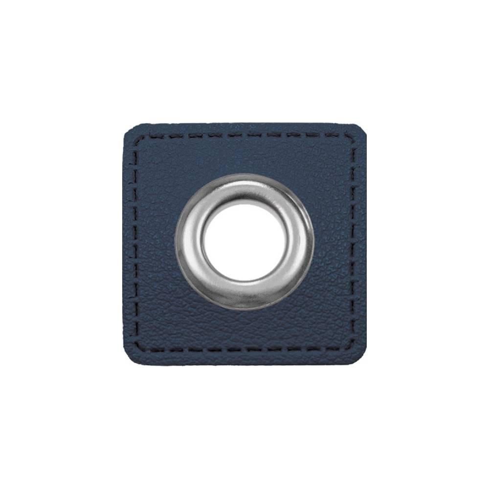 Ösen Patches für Kordeln Lederimitat, marine (1 Paar - 1,375 EUR/Stck.) Bild 1