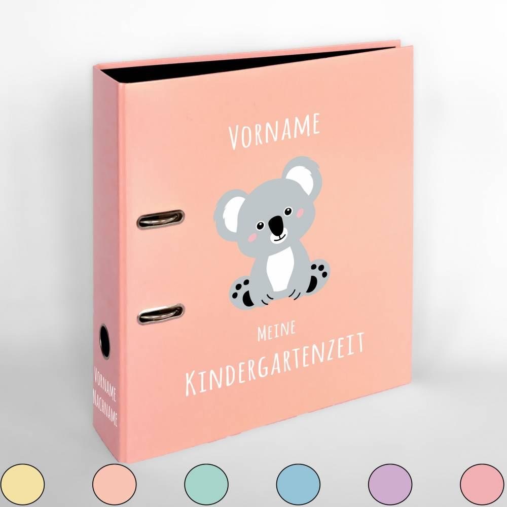 Kindergarten- / Kita-Sammelordner - Portfolioordner personalisiert mit Koala | Portfolio | Ordner | Kitaordner Bild 1