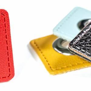 Ösen Patches für Kordeln Lederimitat, bordeaux (1 Paar - 1,375 EUR/Stck.) Bild 3