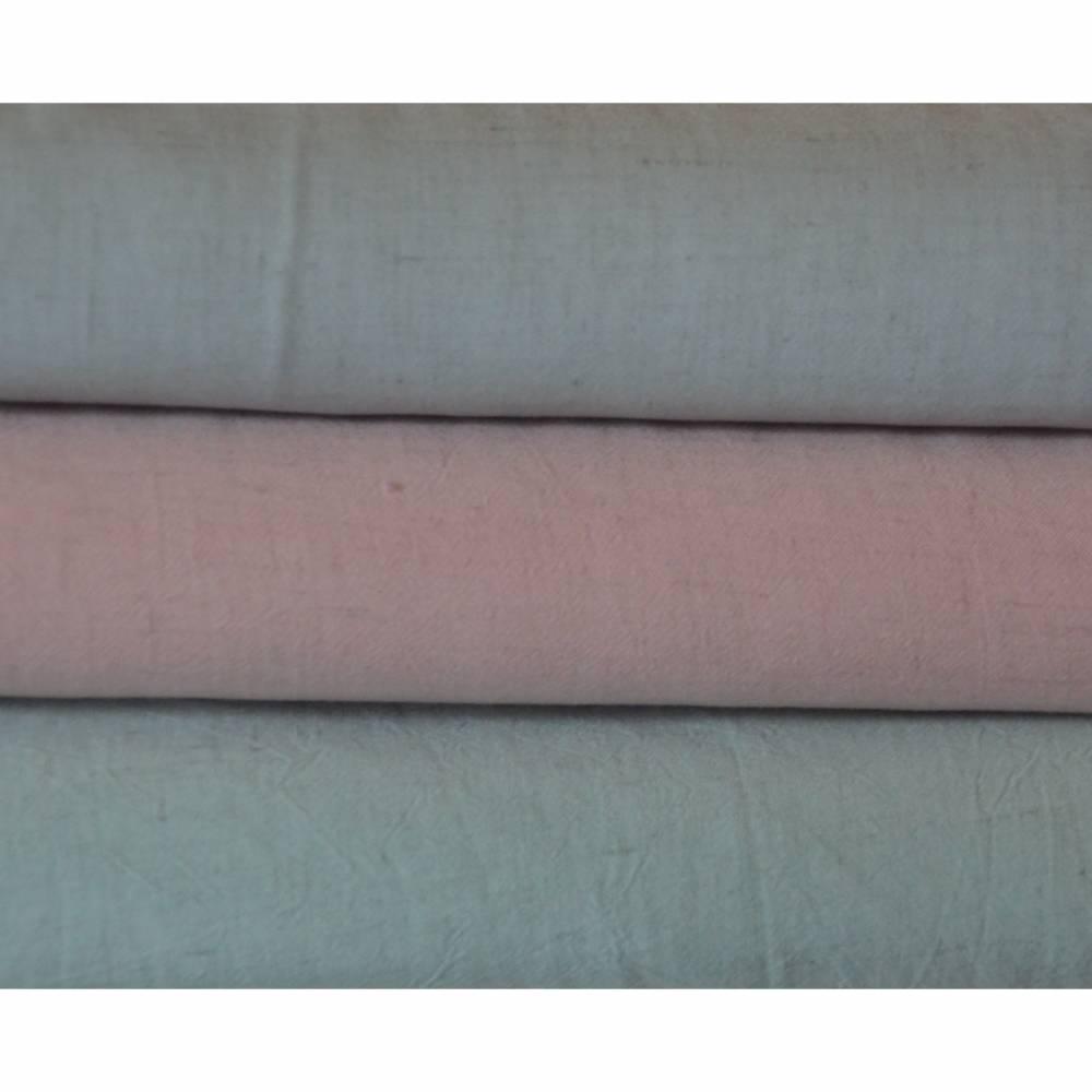 Viskose-Leinen in Pudertönen rosa blau grün 50 cm x 135 cm Naturmaterial Bild 1