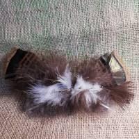 Haarspange, Feder-Haarschmuck, mit echten Federn (HS15)  Bild 2