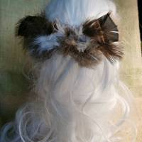Haarspange, Feder-Haarschmuck, mit echten Federn (HS15)  Bild 3