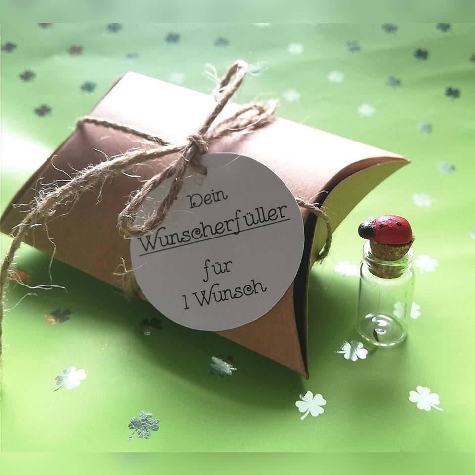 Wunscherfüller für 1 Wunsch, Glücksbringer, Pusteblume Samen, Mitgebsel, Geschenk für Hochzeit, Geburtstag Bild 1