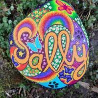 Grabstein JOY handbemalt 25 - 30 cm  Acrylfarbe & - lack, wetterfest & UV beständig Bild 1