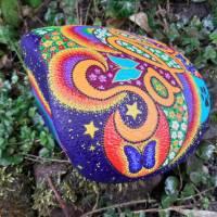 Grabstein JOY handbemalt 25 - 30 cm  Acrylfarbe & - lack, wetterfest & UV beständig Bild 4