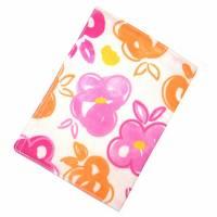 """Impfpasshülle """"Blumen Orange Pink"""" aus Baumwollstoff, waschbar - Impfausweishülle - Impfpassetui - Schutzhülle Bild 2"""