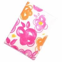 """Impfpasshülle """"Blumen Orange Pink"""" aus Baumwollstoff, waschbar - Impfausweishülle - Impfpassetui - Schutzhülle Bild 3"""
