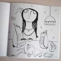 Lenzkunzt Lacaluna Das Ausmalbuch, Malbuch, Coloring Book, Zeichnen, Ausmalen, Frösche und Frauen Bild 10