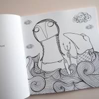 Lenzkunzt Lacaluna Das Ausmalbuch, Malbuch, Coloring Book, Zeichnen, Ausmalen, Frösche und Frauen Bild 3