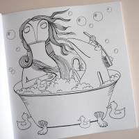 Lenzkunzt Lacaluna Das Ausmalbuch, Malbuch, Coloring Book, Zeichnen, Ausmalen, Frösche und Frauen Bild 5