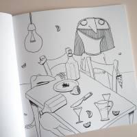 Lenzkunzt Lacaluna Das Ausmalbuch, Malbuch, Coloring Book, Zeichnen, Ausmalen, Frösche und Frauen Bild 9