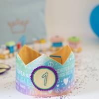 Geburtstagskrone mit wechselbaren Zahlen, bunt Superkind, mit Tasche Bild 4