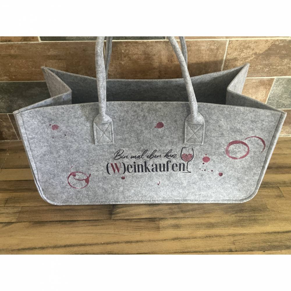 Filz Tasche, Einkaufstasche mit coolen Design  Bild 1