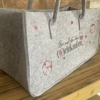 Filz Tasche, Einkaufstasche mit coolen Design  Bild 2