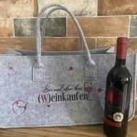Filz Tasche, Einkaufstasche mit coolen Design  Bild 3
