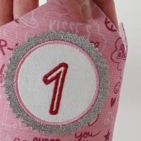 Geburtstagskrone mit wechselbaren Zahlen 1-6 Jahre und Aufbewahrungstasche, Stoffkrone Geburtstag Mädchen oder Jungen Bild 4