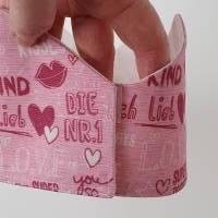 Geburtstagskrone mit wechselbaren Zahlen, rosa Superkind, mit Tasche Bild 5