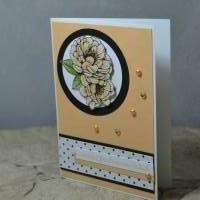 Grußkarte mit Blumenmotiv Bild 1