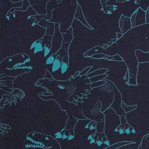 JESSE Baumwolljersey Dinosaurier, dunkelblau Bild 1