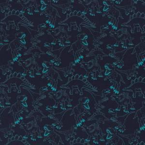 JESSE Baumwolljersey Dinosaurier, dunkelblau Bild 2