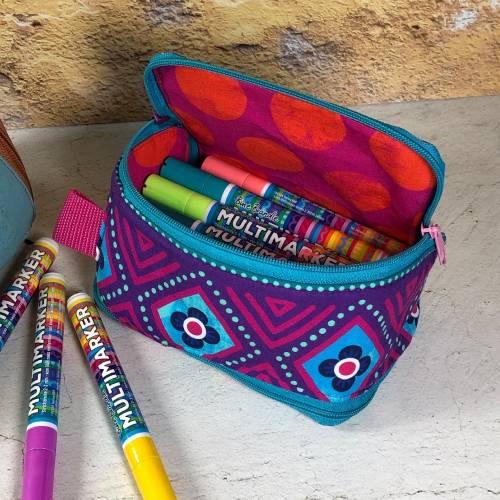 Vorbestellung Multibine, das besondere Stiftemäppchen aus Baumwollstoffen aus der Bine Brändle Stoffkollektion!