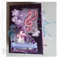 Junk-Journal-Tagebuch Musik 001 *Mitternachtsball*, Unikat von handgemacht, keine Versandkosten Bild 1