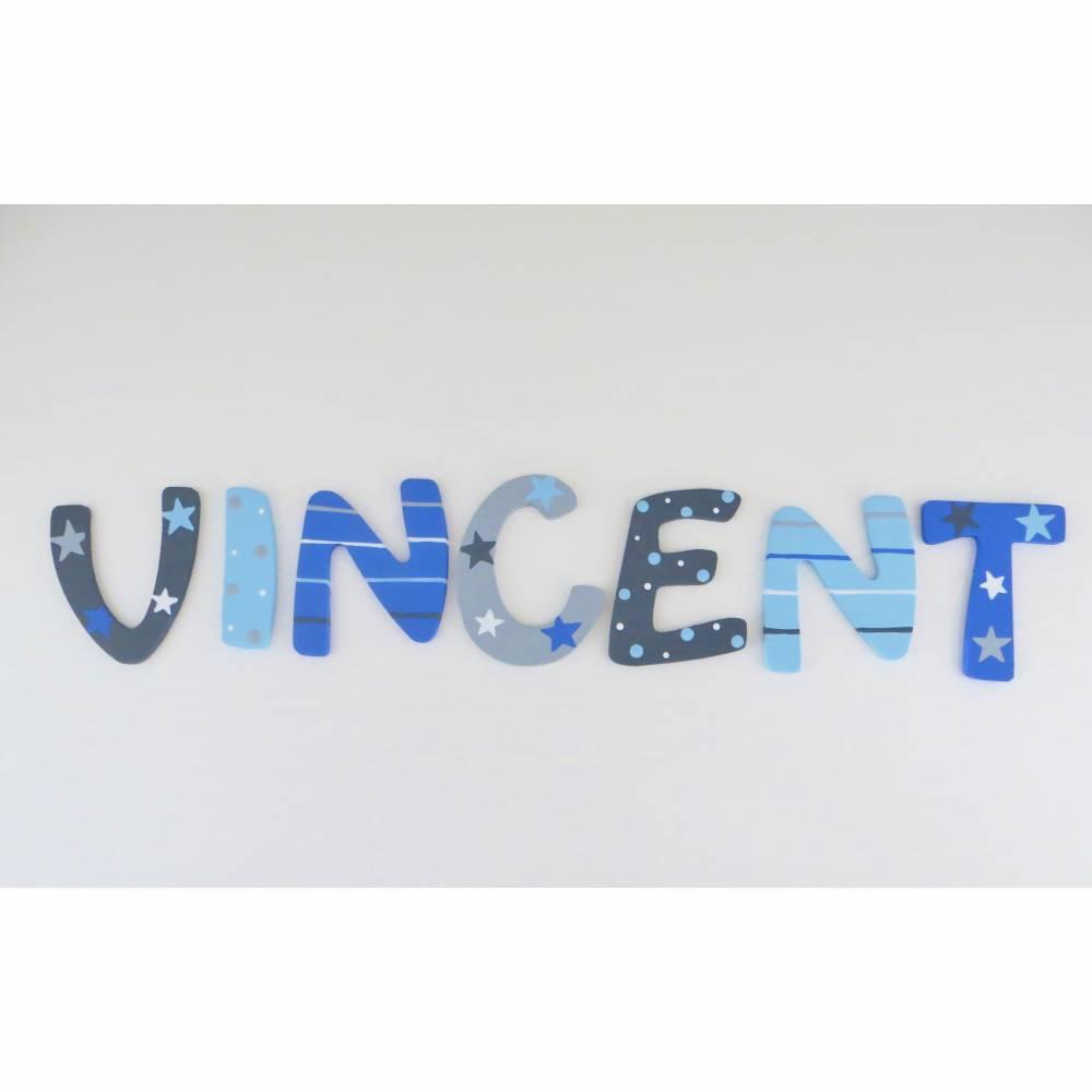 Holzbuchstaben Kinderzimmer Türbuchstaben 6 cm Bild 1
