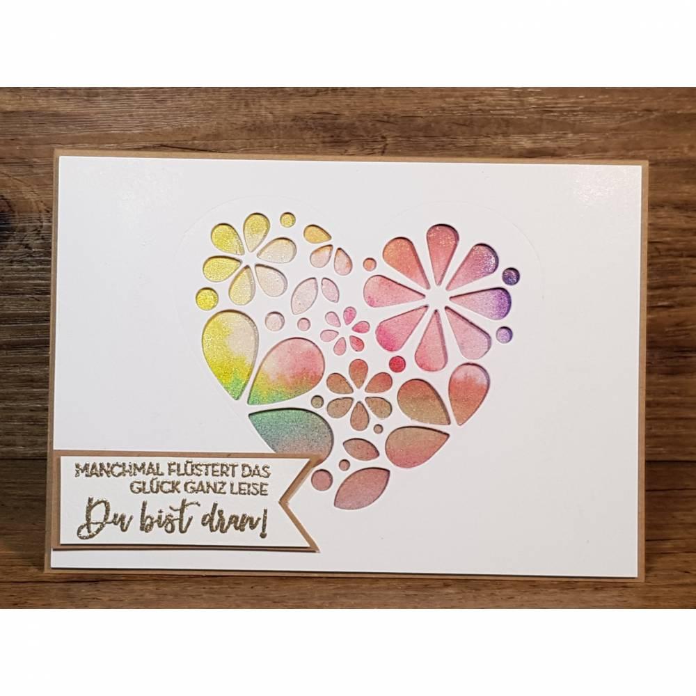 Grußkarte ich denk an dich, Geburtstagskarte, Geschenkkarte, Post für dich Bild 1