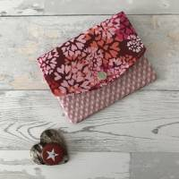 Geldbörse Rosa Geldtasche Geldbeutel Minibörse Baumwolle Flower Power Bild 8