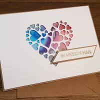 Grußkarte ich denk an dich, Geburtstagskarte, Geschenkkarte, Post für dich Bild 2