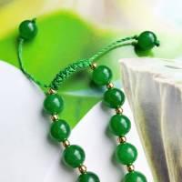 "lange Kette ""Grüne Jade"" Bild 4"