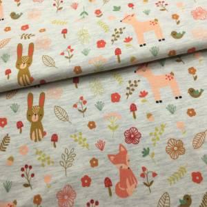 Mini-Stoffpaket FOREST FRIENDS  ecru melange / 0,5 m Jersey & Bündchen Bild 3