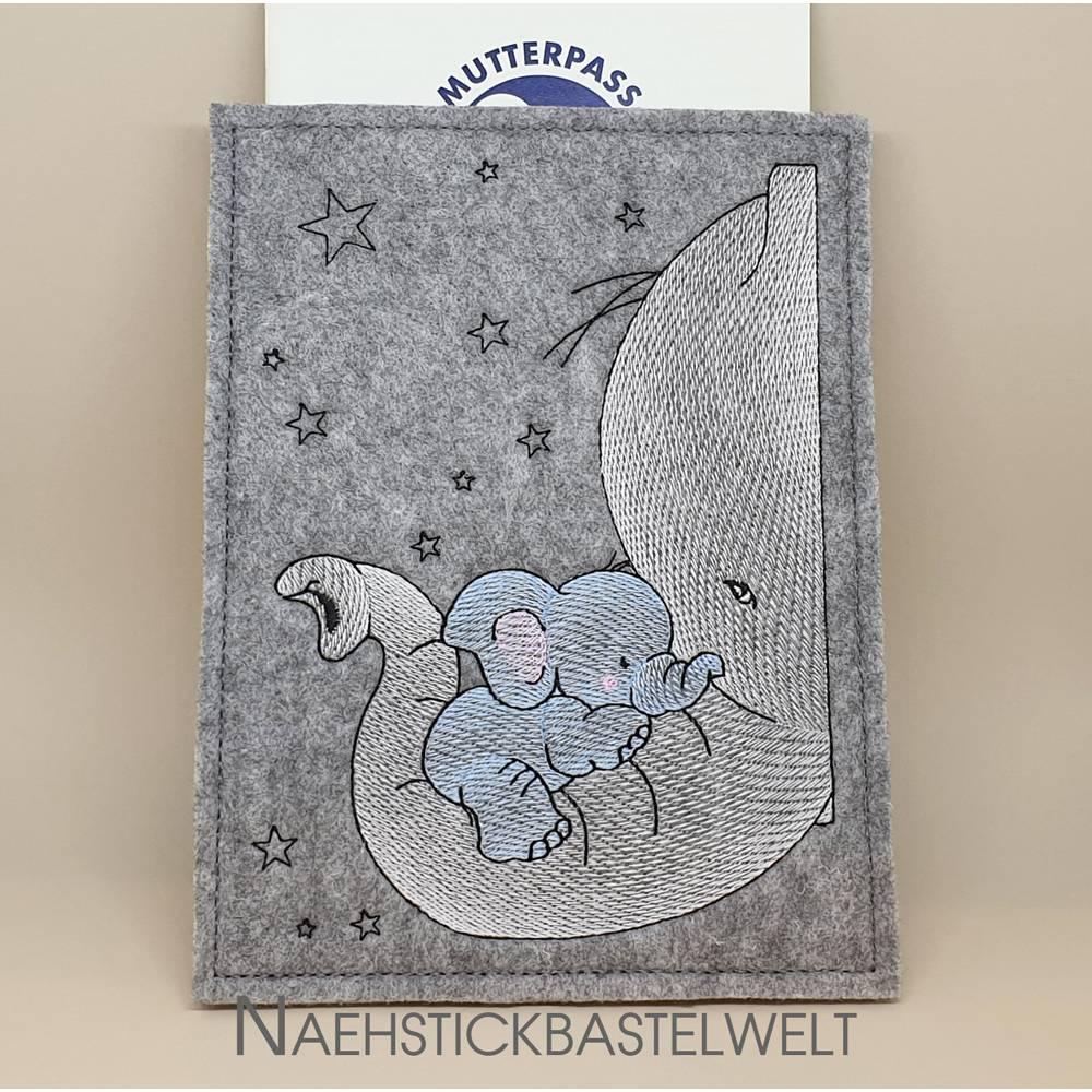 Mutterpasshülle Elefanten (MPH2) Bild 1