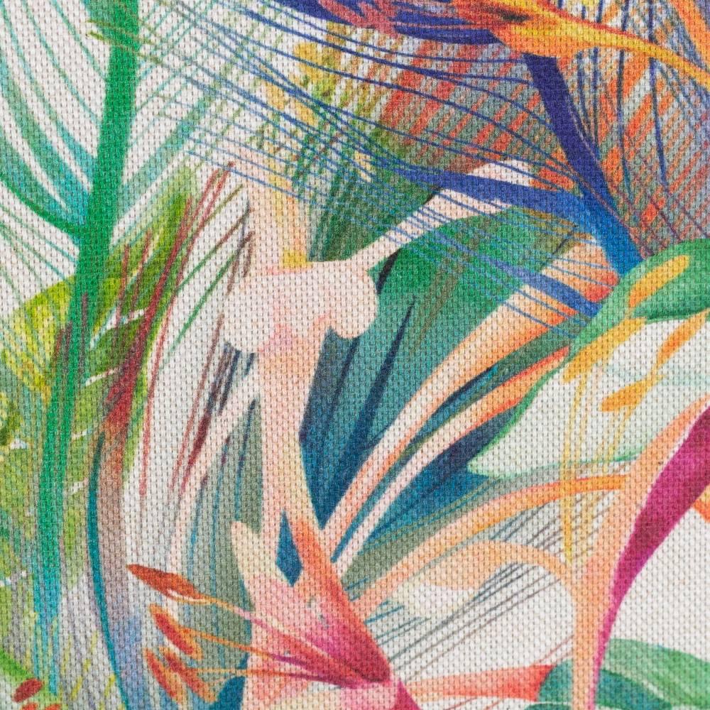 Deko Druck Ulrich Leinenoptik Blätter Blüten bunt(1m /11,00€) Bild 1