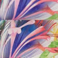 Deko Druck Ulrich Leinenoptik Blätter Blüten bunt(1m /11,00€) Bild 3