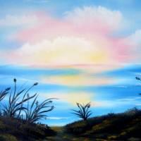 Strandimpressionen – Original Ölmalerei auf Leinwand - Unikat Bild 1