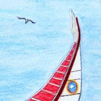 Algarvefischer – Original Pastellkreidemalerei, gerahmt. Bild 2